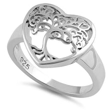 Load image into Gallery viewer, Sterling Silver Tree of Life Heart Ring