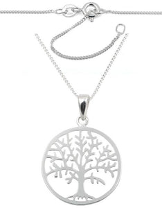 "Sterling Silver Tree of Life 16"" Necklace"