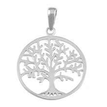 Load image into Gallery viewer, Sterling Silver Tree of Life Pendant