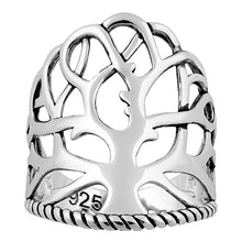 Load image into Gallery viewer, Sterling Silver Tree of Life Ring