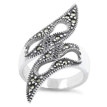 Load image into Gallery viewer, Sterling Silver Tribal Marcasite Ring