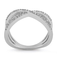 Load image into Gallery viewer, Sterling Silver Triple Overlapping Cage CZ Ring