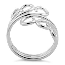 Load image into Gallery viewer, Sterling Silver Triple Twin Swirl Ring