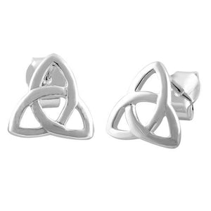 Sterling Silver Triquetra Earrings