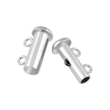 Load image into Gallery viewer, Sterling Silver Tube Clasp 14mm