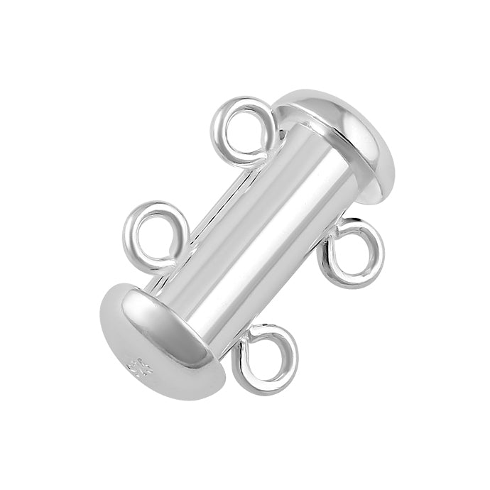 Sterling Silver Tube Clasp 14mm