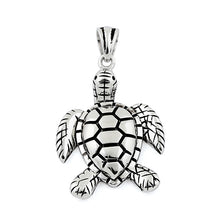 Load image into Gallery viewer, Sterling Silver Turtle Pendant