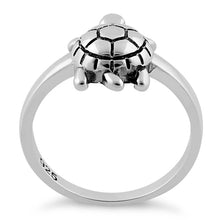 Load image into Gallery viewer, Sterling Silver Turtle Ring