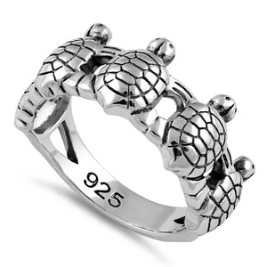 Sterling Silver Turtles Ring