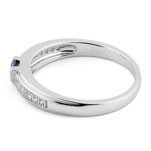 Load image into Gallery viewer, Sterling Silver Twins Amethyst CZ Ring