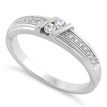 Load image into Gallery viewer, Sterling Silver Twins CZ Ring