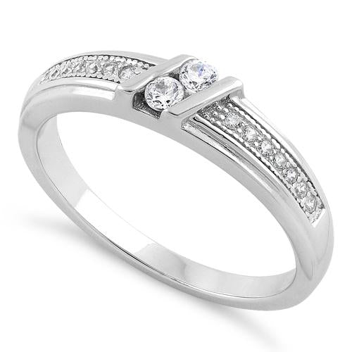 Sterling Silver Twins CZ Ring