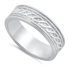 Load image into Gallery viewer, Sterling Silver Twist Eternity Band