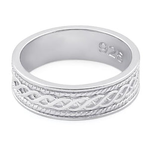 Sterling Silver Twist Eternity Band