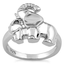 Load image into Gallery viewer, Sterling Silver Two Elephants Ring