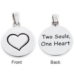 "Sterling Silver ""Two Souls, One Heart"" Pendant"