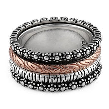 Load image into Gallery viewer, Sterling Silver Two-Tone Rose Gold Forest Spinner Ring