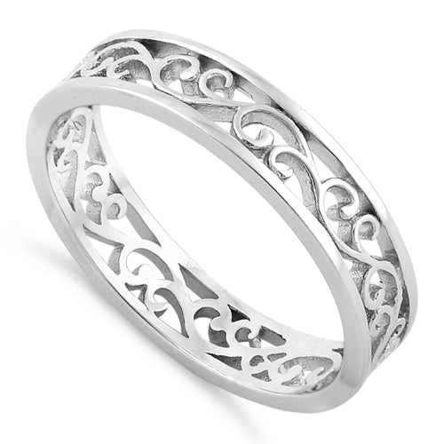 26bbfba999f57 Sterling Silver Unique Band Ring