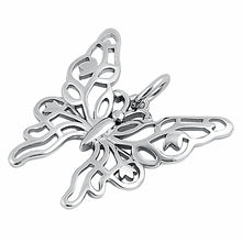 Load image into Gallery viewer, Sterling Silver Unique Butterfly Pendant