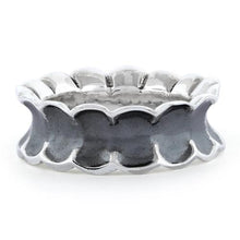 Load image into Gallery viewer, Sterling Silver Unique Oxidized Ring