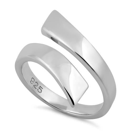Sterling Silver Unique Wave Bar Ring