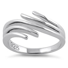Load image into Gallery viewer, Sterling Silver Unique Wavy Ring