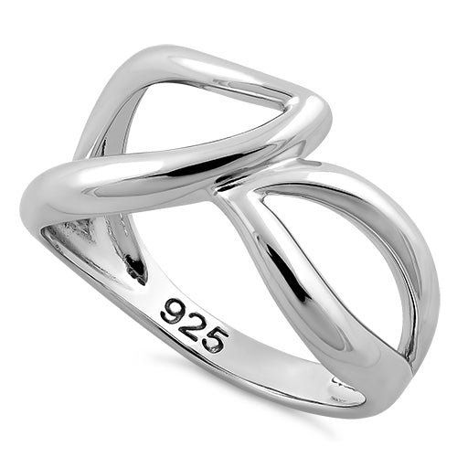 Sterling Silver Unique Wavy Ring