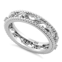 Load image into Gallery viewer, Sterling Silver Vine Rope CZ Ring
