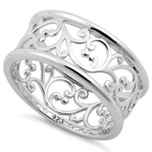 Load image into Gallery viewer, Sterling Silver Vines Band Ring