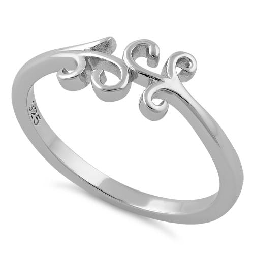 Sterling Silver Vines Ring
