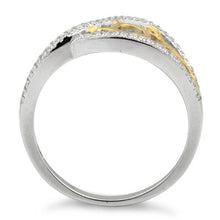 Load image into Gallery viewer, Sterling Silver Vines Two-tone Gold Plated CZ Ring