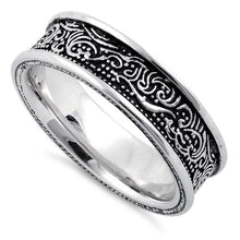 Load image into Gallery viewer, Sterling Silver Wave Pattern Ring