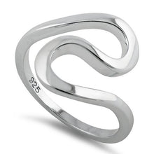Load image into Gallery viewer, Sterling Silver Wave Swirl Ring