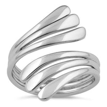 Load image into Gallery viewer, Sterling Silver Wavy Lines Ring