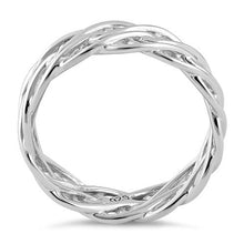 Load image into Gallery viewer, Sterling Silver Wavy Strings Braided Ring