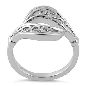Sterling Silver Wavy Swirls Ring
