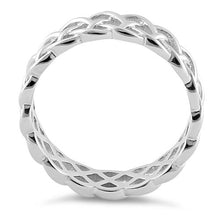 Load image into Gallery viewer, Sterling Silver Weaved Pattern Ring