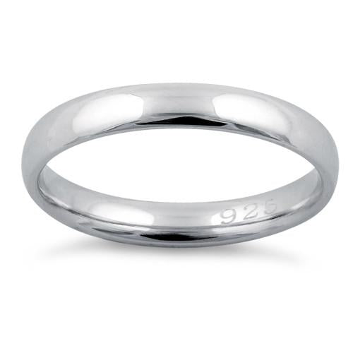 Sterling Silver Wedding Bands.Sterling Silver Wedding Band 3mm