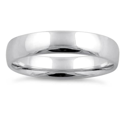 Sterling Silver Wedding Band 4mm