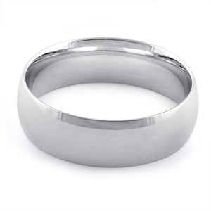 Sterling Silver Wedding Band 7mm