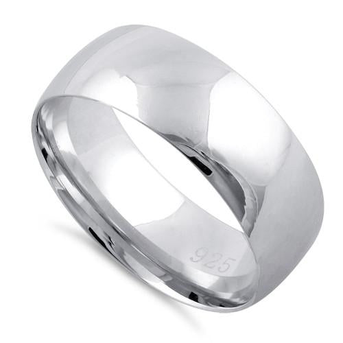 Sterling Silver Wedding Bands.Sterling Silver Wedding Band 7mm