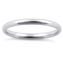 Load image into Gallery viewer, Sterling Silver Wedding Band Ring 2mm