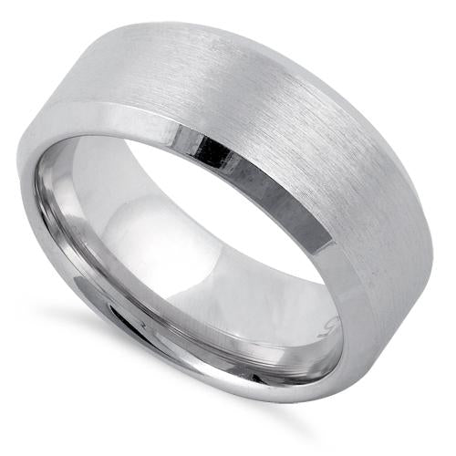 Sterling Silver Wedding Band Ring 8mm