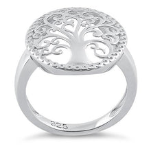 Load image into Gallery viewer, Sterling Silver Whimsic Tree of Life Ring
