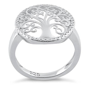 Sterling Silver Whimsic Tree of Life Ring
