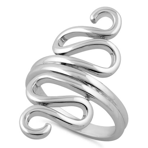 Sterling Silver Wiggly Ring