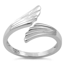 Load image into Gallery viewer, Sterling Silver Wings Adjustable Ring