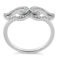Load image into Gallery viewer, Sterling Silver Wings CZ Ring