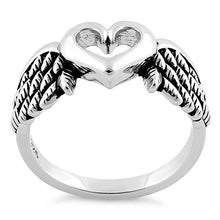 Load image into Gallery viewer, Sterling Silver Wings Heart Ring
