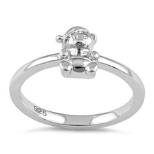 Load image into Gallery viewer, Sterling Silver Winter Teddy Bear Ring
